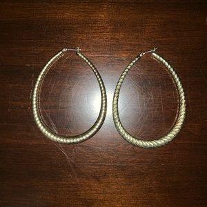 Oval Hoop Stylish Earrings